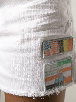 Джинсовые Шорты С Заплатой С Флагами Each X Other                                                                                                              белый цвет