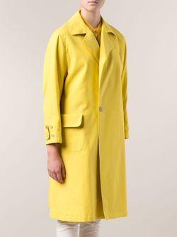 Однобортное Пальто ARTS & SCIENCE                                                                                                              желтый цвет