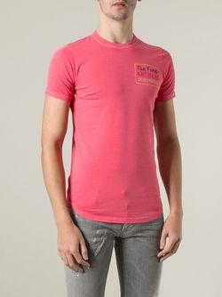 Узкая Футболка Dsquared2                                                                                                              розовый цвет