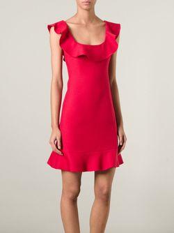 Платье А-Силуэта С Оборками Valentino                                                                                                              красный цвет