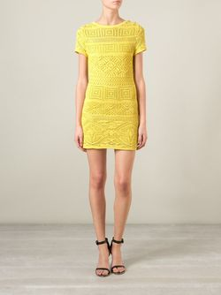 Кружевное Платье Emilio Pucci                                                                                                              желтый цвет