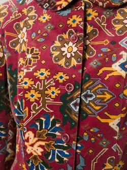Бархатный Пиджак В Принт Kenzo                                                                                                              красный цвет