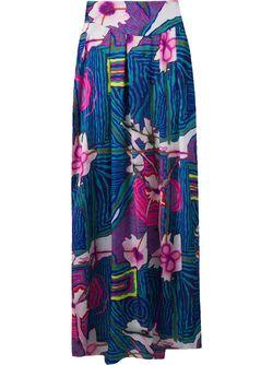 Printed Long Skirt AMIR SLAMA                                                                                                              синий цвет