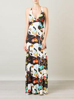 Printed Long Dress AMIR SLAMA                                                                                                              черный цвет
