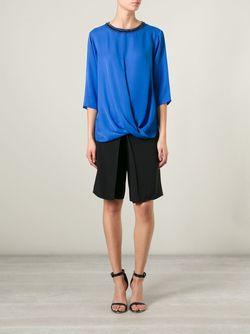 Блузка С Драпировкой Michael Michael Kors                                                                                                              синий цвет