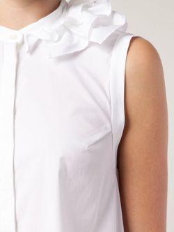 Рубашка С Оборкой Без Рукавов Brunello Cucinelli                                                                                                              белый цвет