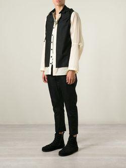 Куртка-Рубашка С Капюшоном Ann Demeulemeester                                                                                                              чёрный цвет