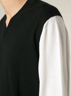 Свитер С Контрастным Рукавом Ann Demeulemeester                                                                                                              черный цвет