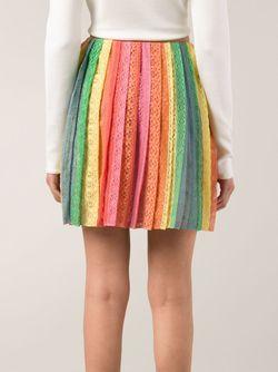 Юбка С Вышивкой В Полоску Valentino                                                                                                              многоцветный цвет