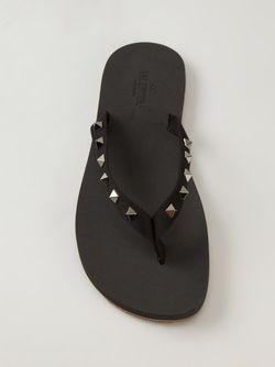 Шлёпанцы Rockstud Valentino Garavani                                                                                                              чёрный цвет