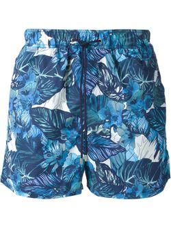 Шорты Для Плавания С Принтом Etro                                                                                                              синий цвет