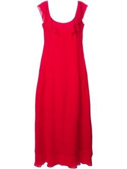 Вечернее Платье С Оборками Valentino                                                                                                              красный цвет