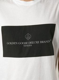 Футболка С Принтом Логотипа Golden Goose                                                                                                              белый цвет