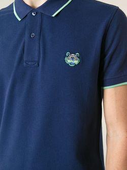 Футболка-Поло Tiger Kenzo                                                                                                              синий цвет