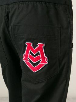 Укороченные Спортивные Брюки Love Moschino                                                                                                              черный цвет