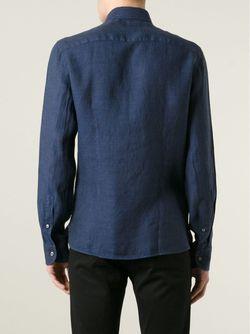 Джинсовая Рубашка Fay                                                                                                              синий цвет
