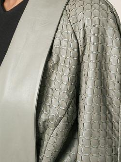 Кожаное Пальто С Поясом Armani Collezioni                                                                                                              Nude & Neutrals цвет