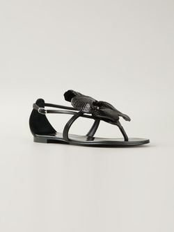 Сандалии С Деталью В Форме Цветка Giuseppe Zanotti Design                                                                                                              чёрный цвет