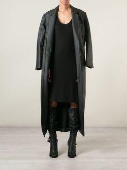 Пальто С Эффектом Кожи A.F.Vandevorst                                                                                                              черный цвет