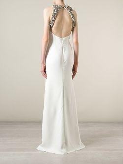 Свадебное Платье С Открытой Спинкой Victoria Beckham                                                                                                              белый цвет