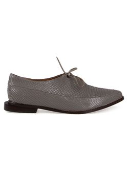 Snakeskin Effect Lace-Up Shoes FERNANDA YAMAMOTO                                                                                                              серый цвет