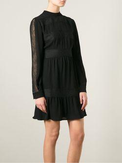 Платье С Кружевными Вставками Valentino                                                                                                              чёрный цвет