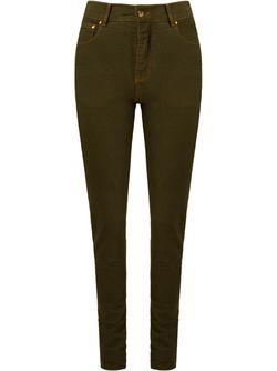 High Waist Skinny Trousers AMAPO                                                                                                              зелёный цвет
