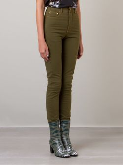 High Waist Skinny Trousers AMAPO                                                                                                              зелёный цвет