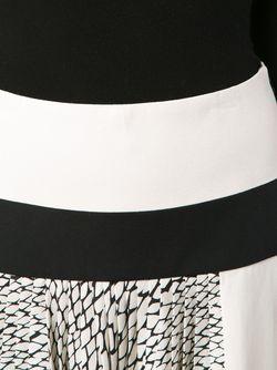 Плиссированная Юбка Со Змеиным Принтом Bouchra Jarrar                                                                                                              белый цвет