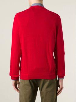 Перфорированный Свитер С Круглым Вырезом YMC                                                                                                              красный цвет