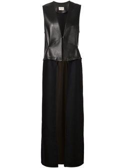 Длинная Жилетка С Панельным Дизайном SABINE LUISE                                                                                                              черный цвет