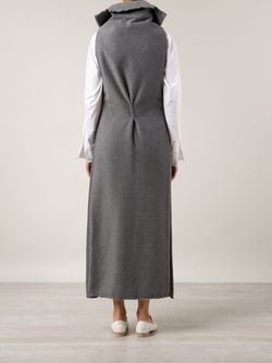 Длинное Пальто Без Рукавов SABINE LUISE                                                                                                              серый цвет