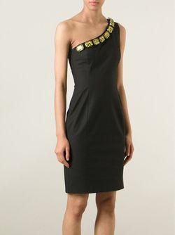 Декорированное Платье На Одно Плечо Moschino Cheap and Chic                                                                                                              черный цвет