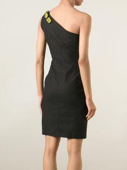 Декорированное Платье На Одно Плечо Moschino Cheap and Chic                                                                                                              чёрный цвет