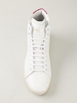 Высокие Кеды Court Classic Saint Laurent                                                                                                              белый цвет