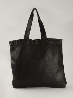 Сумка-Тоут С Потертым Эффектом GUIDI                                                                                                              черный цвет
