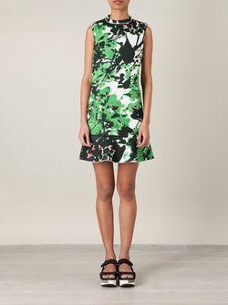 Платье С Принтом Marni                                                                                                              зелёный цвет