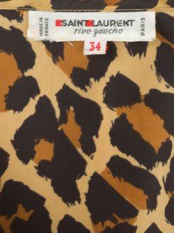 Топ В Леопардовый Принт Saint Laurent                                                                                                              Nude & Neutrals цвет