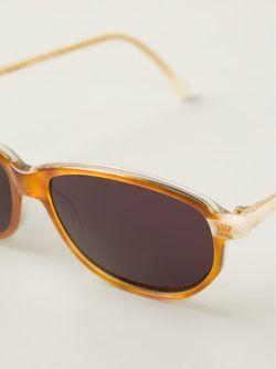 Солнцезащитные Очки В Овальной Оправе Celine Vintage                                                                                                              коричневый цвет