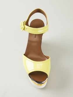 Босоножки На Танкетке Dolce & Gabbana                                                                                                              желтый цвет