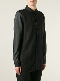 Длинная Лоскутная Рубашка Ann Demeulemeester                                                                                                              черный цвет