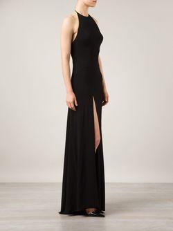Вечернее Платье С Высоким Разрезом Alexandre Vauthier                                                                                                              чёрный цвет