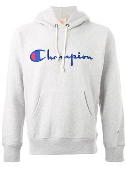 Толстовка С Капюшоном И Принтом Логотипа Champion                                                                                                              серый цвет