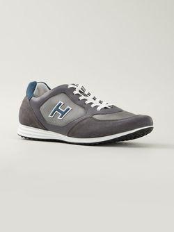 Panelled Sneakers Hogan                                                                                                              серый цвет