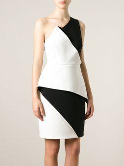 Платье Колор-Блок Halston Heritage                                                                                                              чёрный цвет