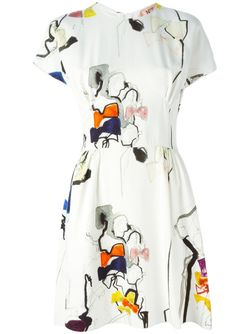 Платье С Принтом No21                                                                                                              белый цвет