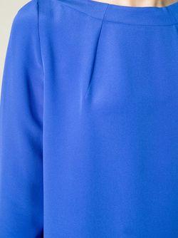 Платье-Шифт С Вырезом-Лодочкой Gianluca Capannolo                                                                                                              синий цвет