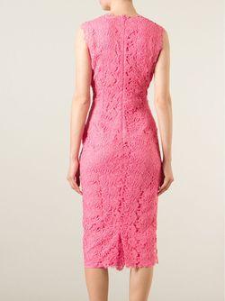 Облегающее Кружевное Платье Ermanno Scervino                                                                                                              розовый цвет