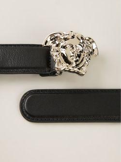 Ремень С Медузой Versace                                                                                                              чёрный цвет