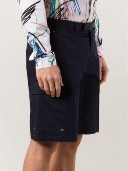 Шорты С Накладными Карманами Dior Homme                                                                                                              синий цвет